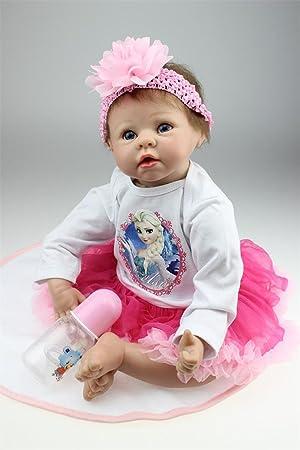 591881a05b962 NPK Collection Reborn Baby Doll Soft Silicone 22inch 55cm Newborn Baby Doll  lifelike Vinyl Dolls Lovely