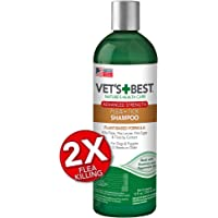 Vet's Best Flea and Tick Advanced Strength Dog Shampoo   Flea Treatment for Dogs   Flea Killer with Certified Natural Oils   12 Ounces