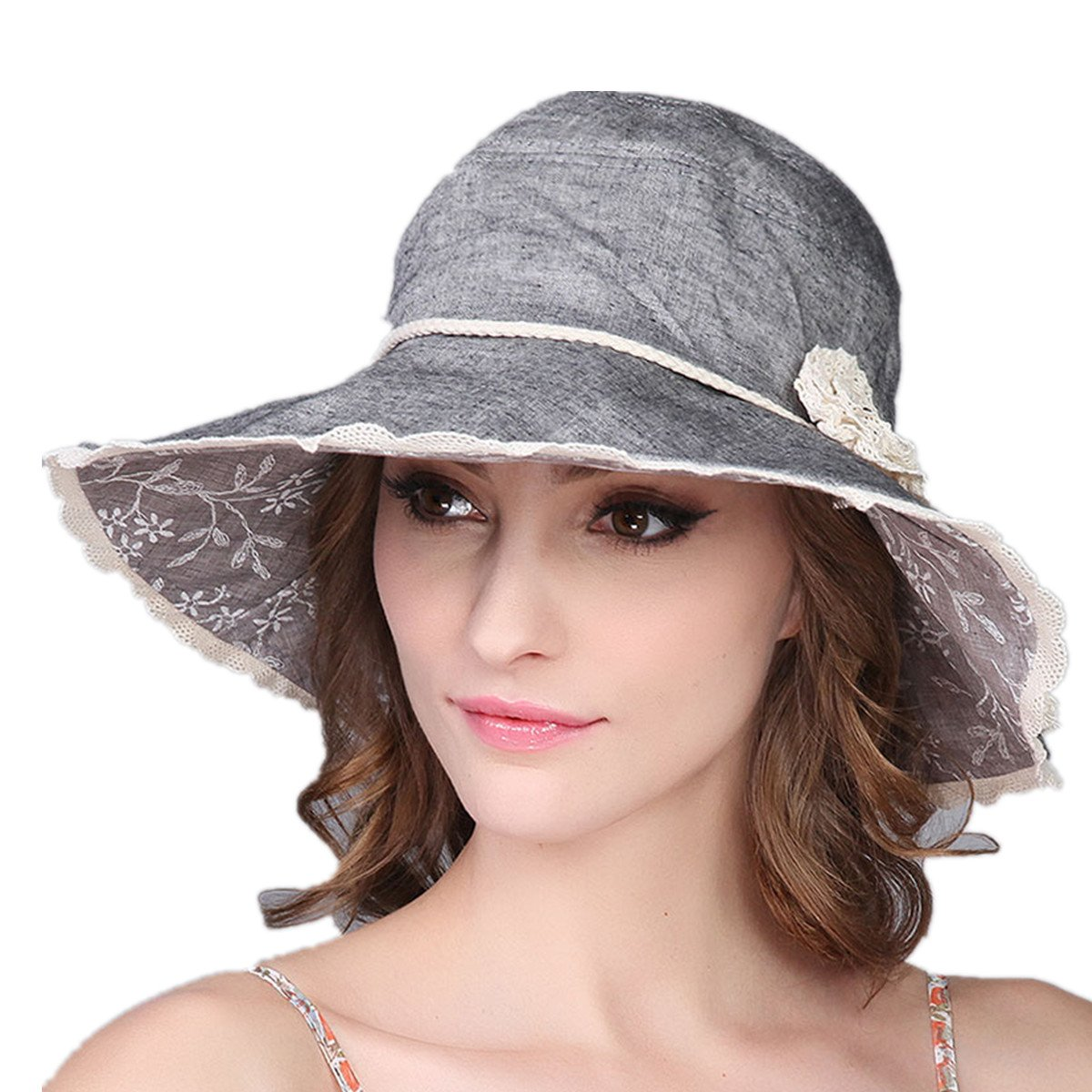 XINFU UPF50+ Sun Shade Hats for Womens Summer Wide Brim Beach Hat Foldable  at Amazon Women s Clothing store  50533fc80a