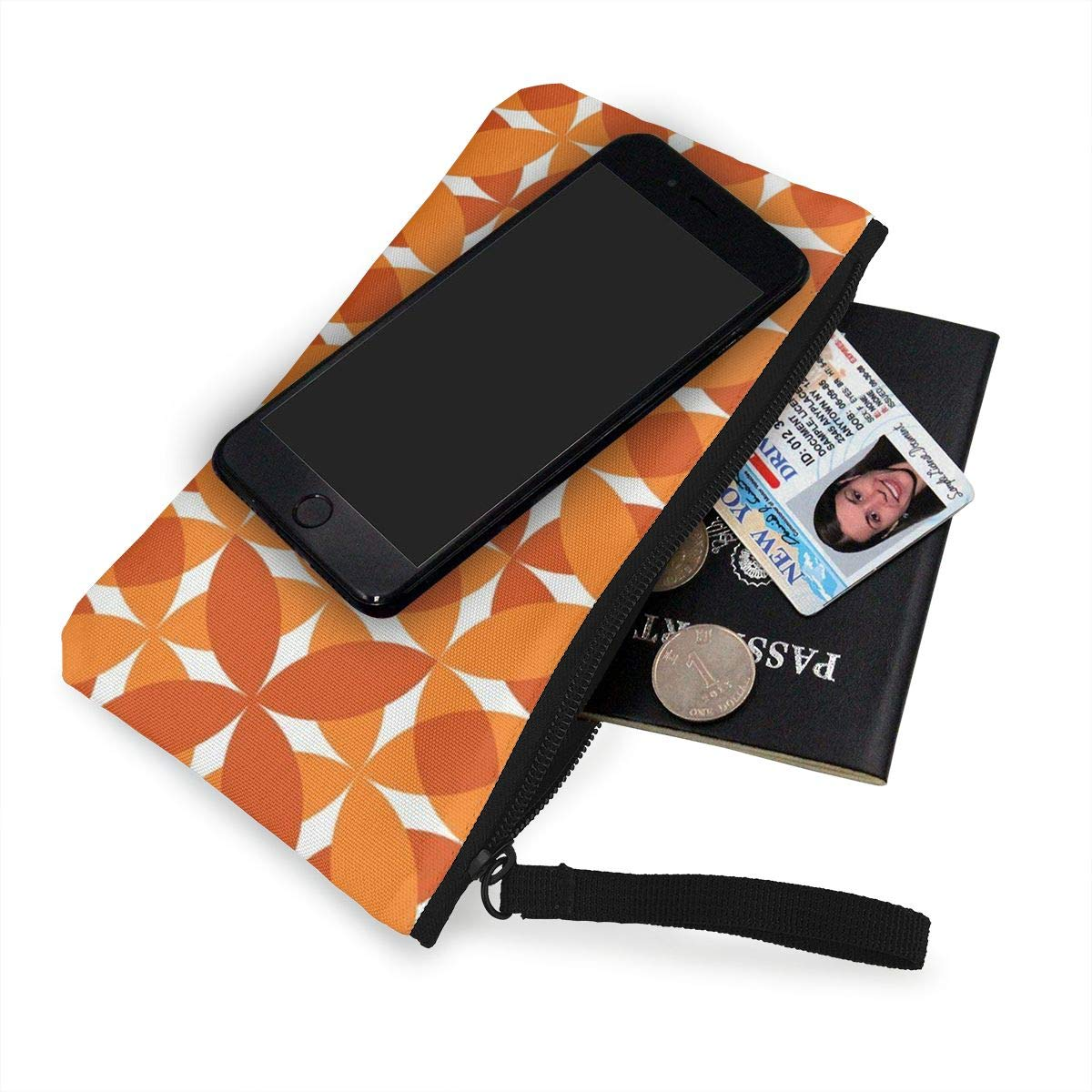 Coin Pouch Pumpkin Pie Canvas Coin Purse Cellphone Card Bag With Handle And Zipper