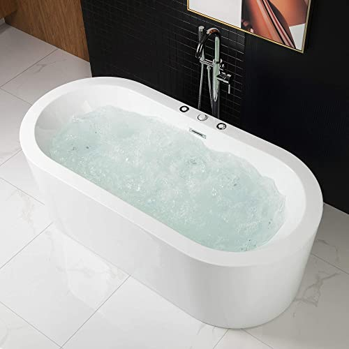 Woodbridge b-0030 bts1606 67 x 32 Water Jetted and Air Bubble Freestanding Bathtub, BTS1606, B-0030 Whirlpool
