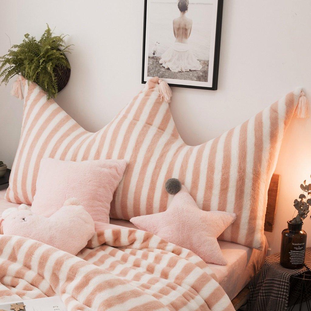 MEILING Cuscino a Righe rosa Imitazione a Letto di Coniglio Semplice Cuscino Cuscino a Vento Principessa con Cuscino Rimovibile Realizzato in imballaggio Flessibile (Dimensioni   120  75cm)