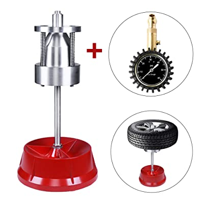 VI-CO Portable Bubble Wheel Balancer W/Tire Pressure Gauge, Static Balancing Machine Tire Balancer Changer Ideal for Automobiles and Light Trucks, 1-1/2 in. to 4 in. Diameter: Sports & Outdoors