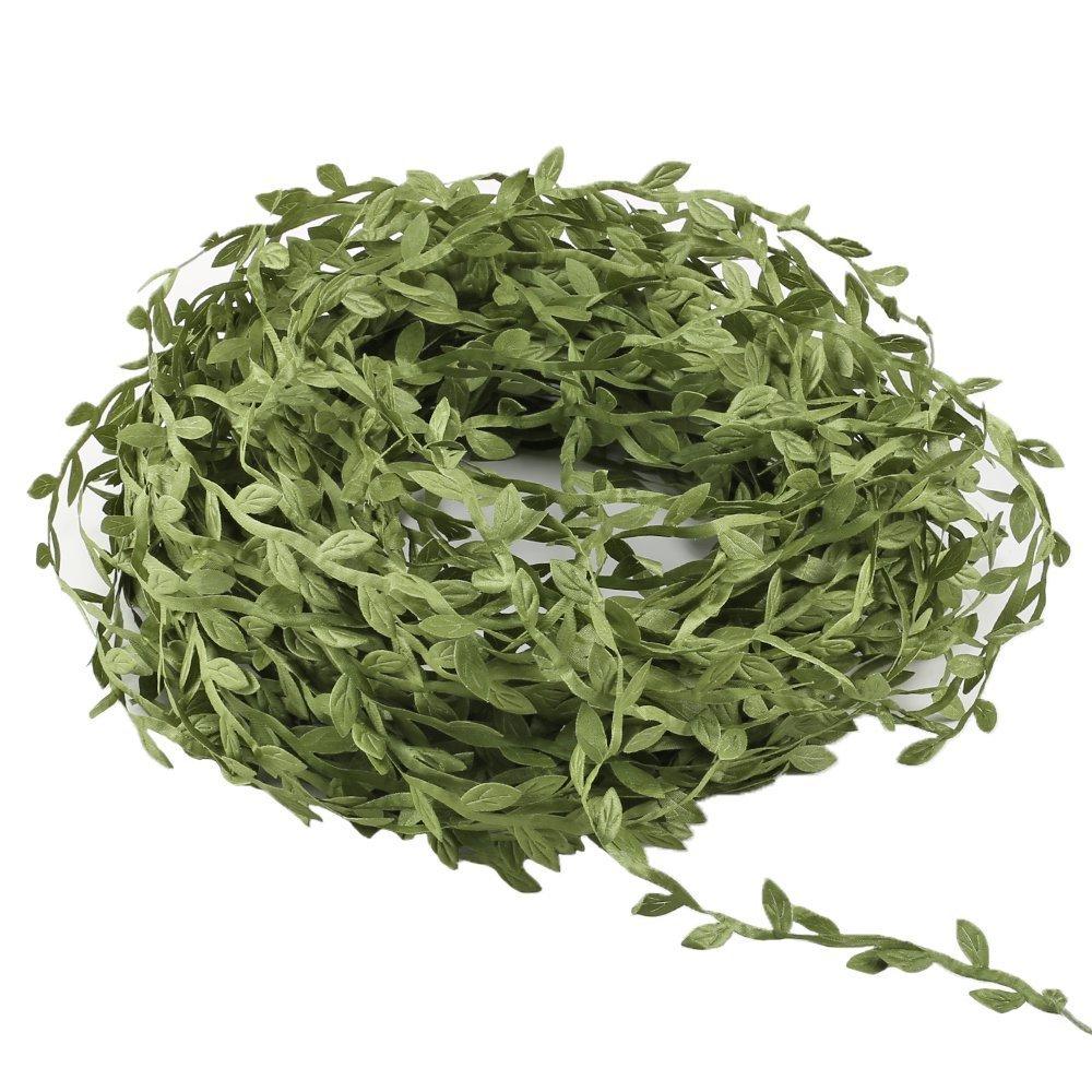Seta artificiale Vines, Amkun 40,2m falso appeso piante foglie di edera ghirlande di simulazione di fogliame in rattan verde nastro ghirlanda di nozze parete Crafts party Decor Green