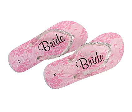 f766cf586a2d Amazon.com  Lillian Rose FF182 MB Bride Women Medium 7-8 Flip Flops ...