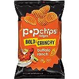 Popchips Potao Chips Ridges Buffalo Ranch 5 oz Bags (Pack of 12)