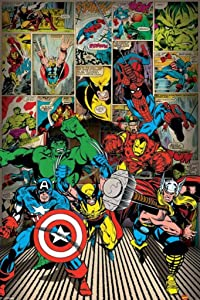Pyramid International Marvel Comics Here Come The Heroes Comic Book Poster 24x36 Inch
