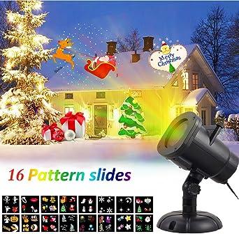 Luces LED Proyector Navidad, DYDYLU, Con 16 Diferentes ...