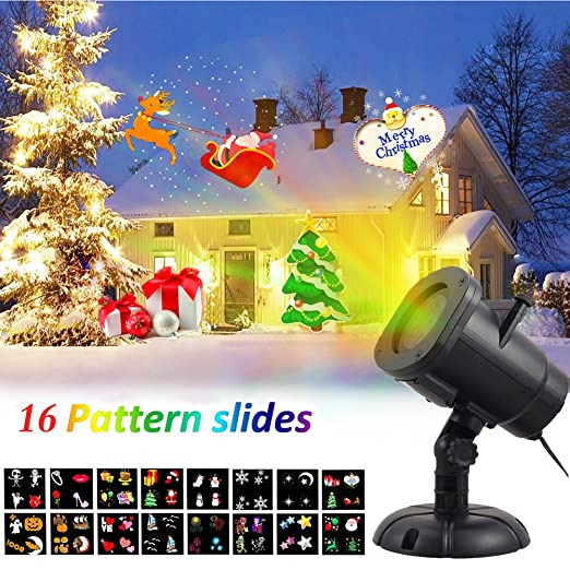 Luces LED Proyector Navidad, DYDYLU, Con 16 Diferentes ...