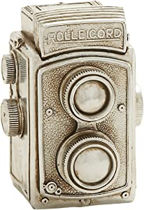 Plutus Brands Antique Themed Silver Camera Decor