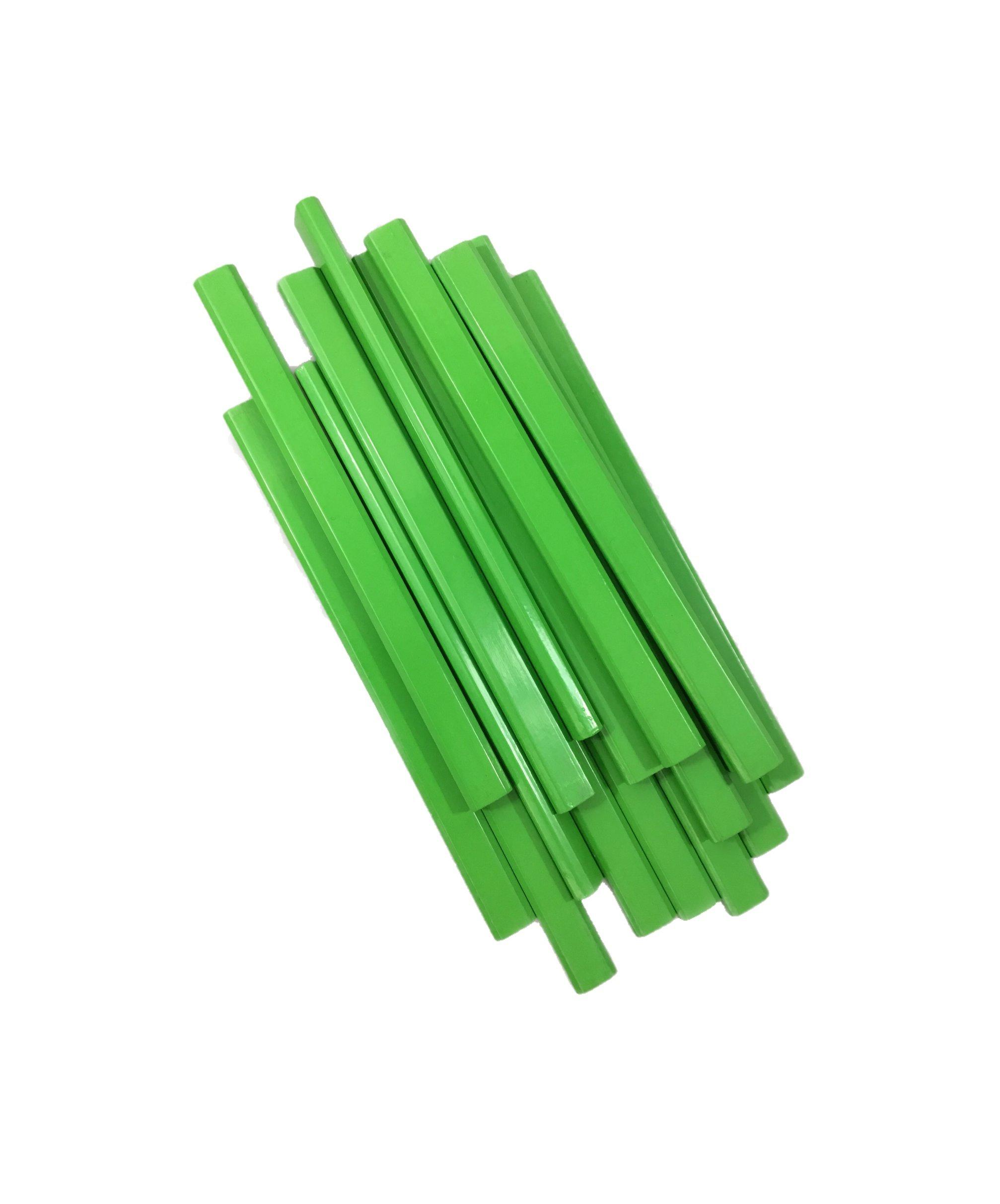 72 Lapices De Carpintero Planos Color Verde Neon