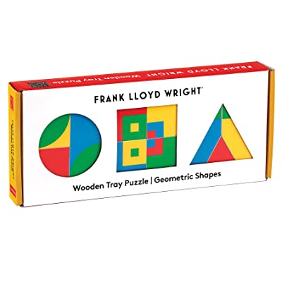 Frank Lloyd Wright Geometric Shapes Wooden Tray Puzzle: Toys & Games