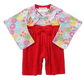 a6aeb3b7399dc (コ-ランド) Co-land ベビー服 和服 男の子 女の子 袴風 ロンパース カバーオール