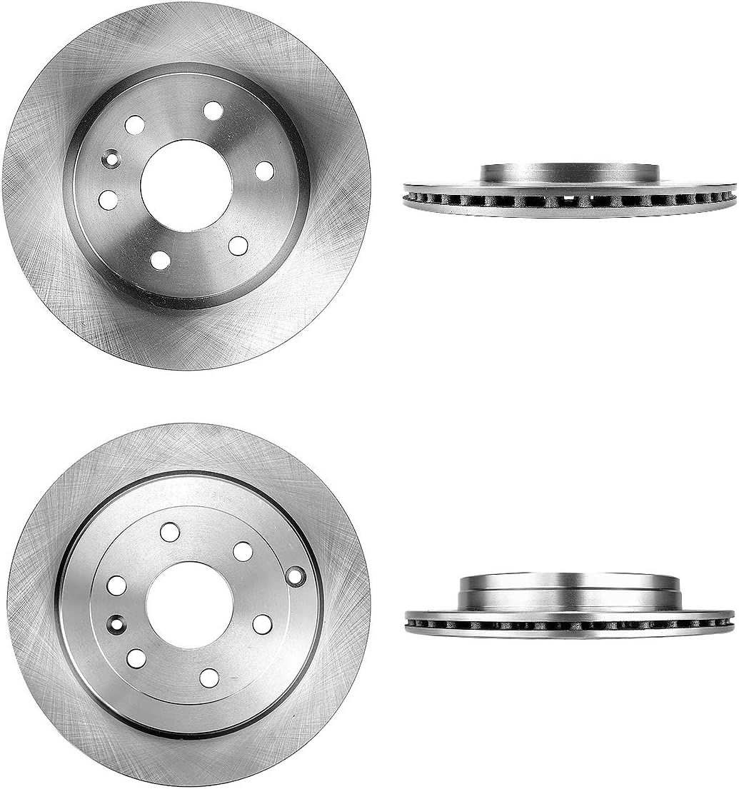 CRK14001 FRONT 325 mm 4 Brake Disc Rotors REAR 331 mm Premium OE 6 Lug