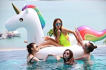 Inflable Gigante de Unicornio Flotador de Helado para piscina, Juguete para fiesta de piscina con válvula rápida (275 ×140 ×120cm): Amazon.es: Juguetes y ...