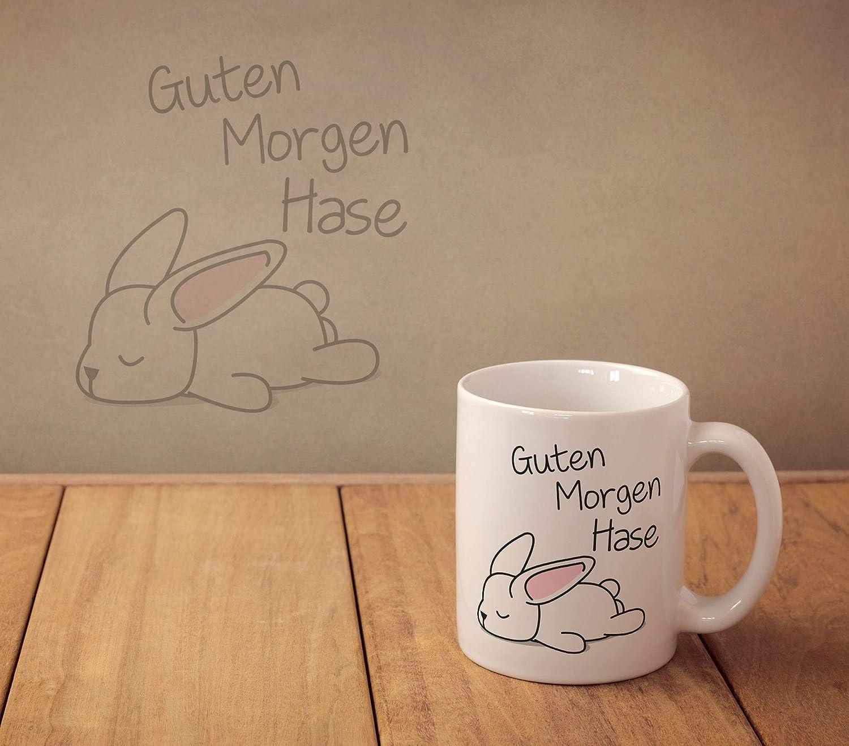 Vanverden Tasse Guten Morgen Hase Farbeweißbunt