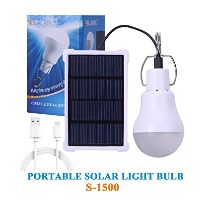 BOL Solar Lamp Portable LED Light Bulb Solar Panel Powered Rechargeable Lantern  Lights Lamps