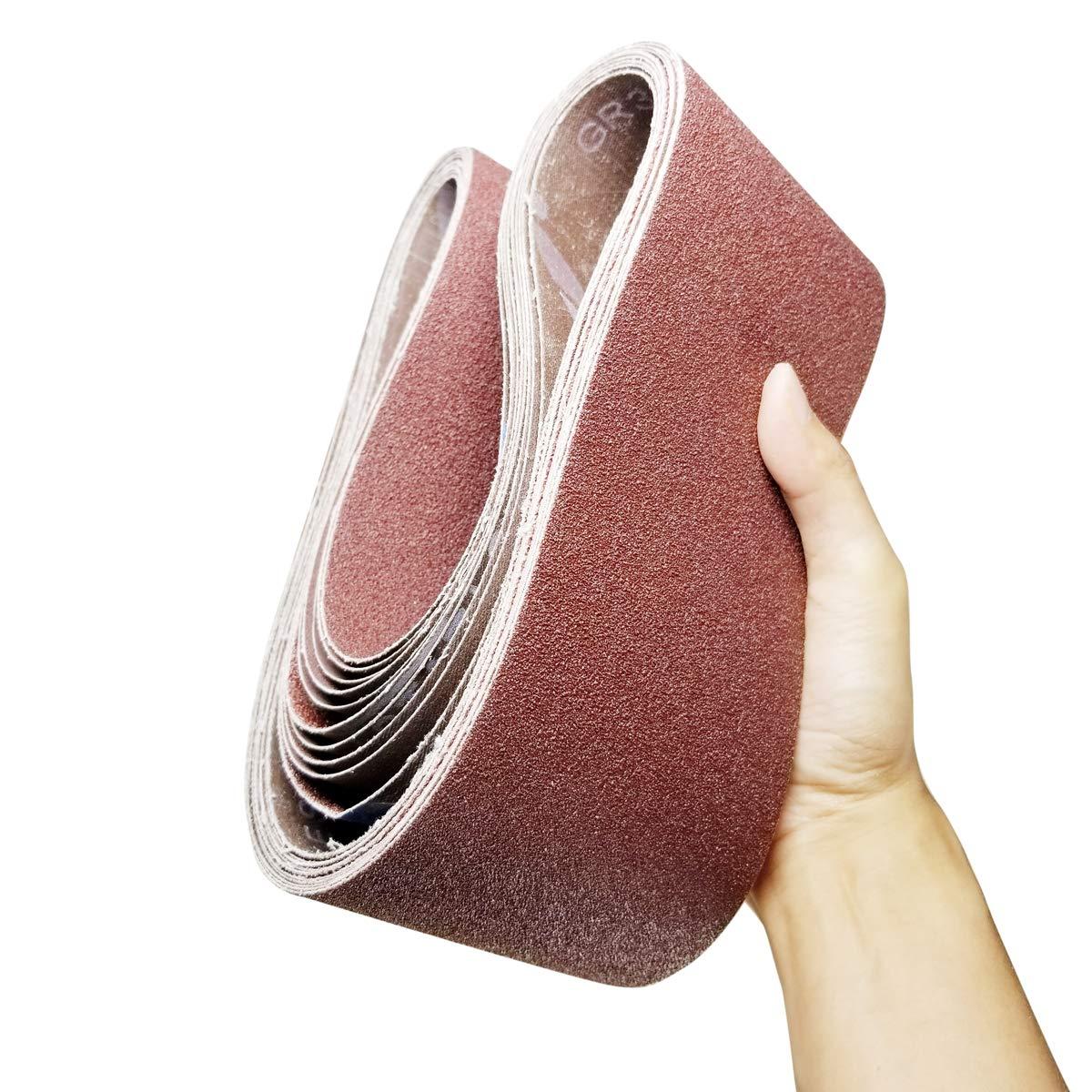 Amazon.com: Bandas de lija de óxido de aluminio para ...