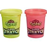 Play-Doh E9445 Slime Super Stretch 2-Pack for Kids 3 Years and Up - Yellow and Red
