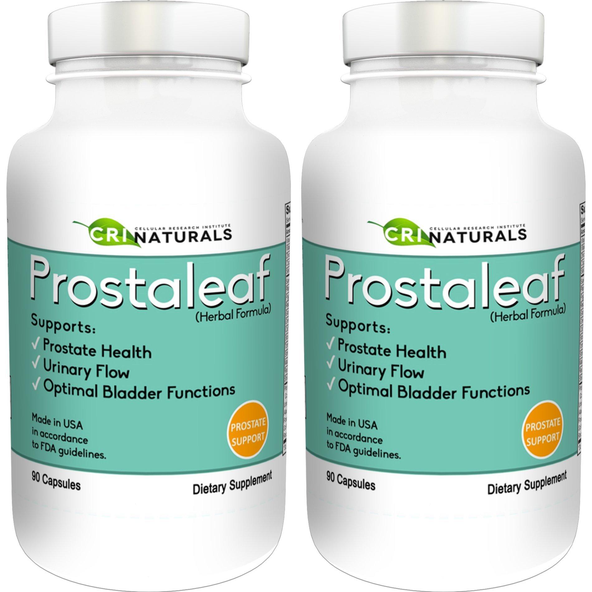 Prostaleaf - Natural Prostate Relief - Prostate Health - Improves Urinary Flow - 90 Money Back Guarantee (2 - pack)