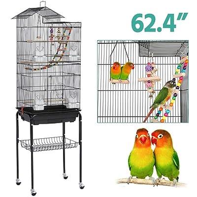 YAHEETECH Roof Top Large Flight Parakeet Parrot Bird Cage