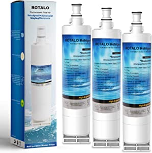 4396508 Refrigerator Water Filter ROTALO NSF 42&372 Certified Water Filter Replacement Compatible with Whirlpool 4396508 4396510 Kenmore 46-9010 EveryDrop Filter 5 EDR5RXD1 PUR W10186668 (3 Pack)