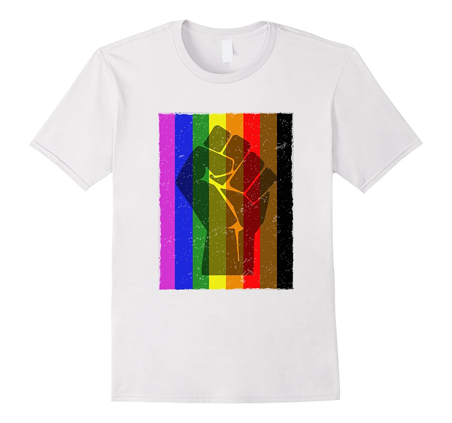 LGBTQ Resist Fist Gay Pride Black Lives Matter Tshirt-PL