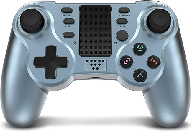 Amazon Com Controller For Ps4 Powerlead Wireless Gaming Controller Six Axis Dual Vibration Gamepad For Playstation 4 Playstation 3 With Colorful Leds And Touch Pad Computers Accessories