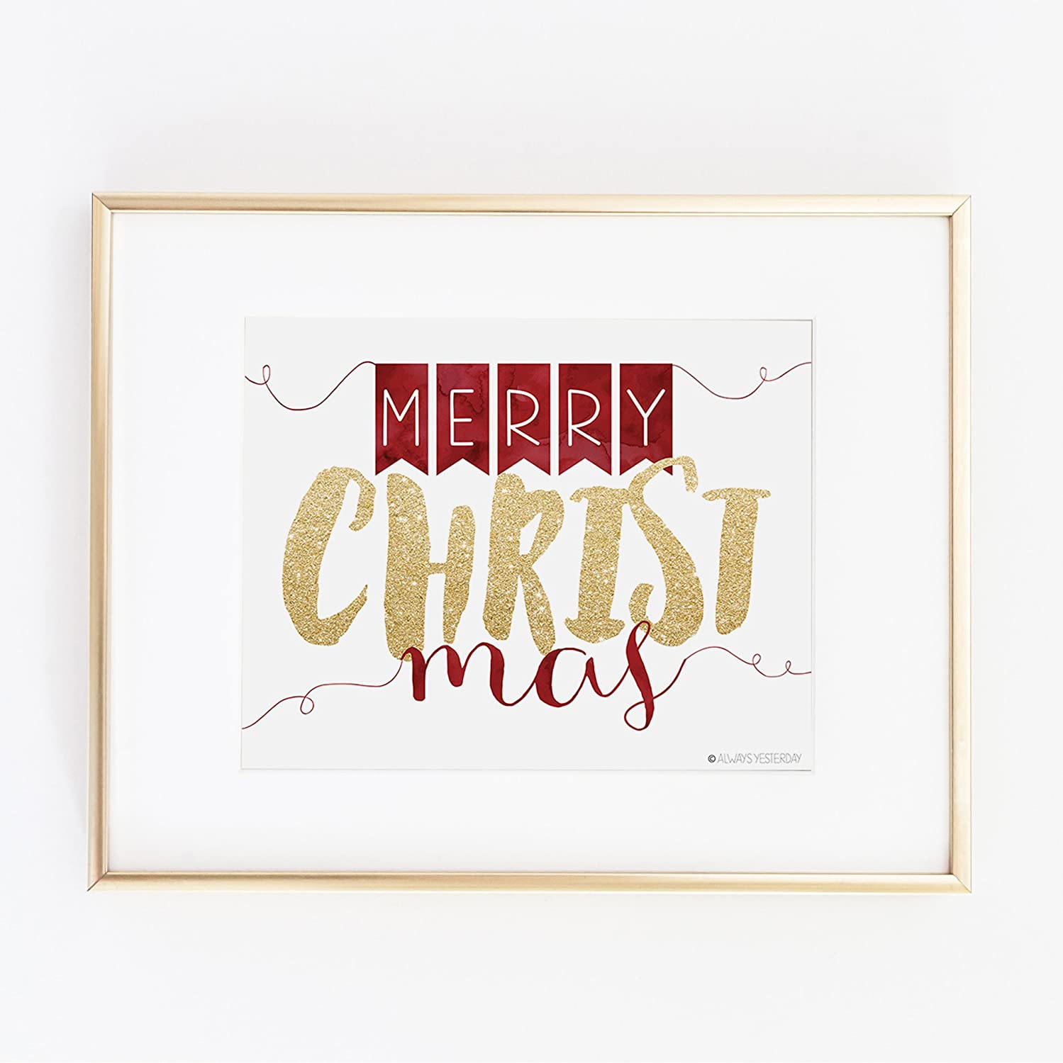photo about Merry Christmas Sign Printable named : Merry CHRIST mas As a result of Often Yesterday Prints
