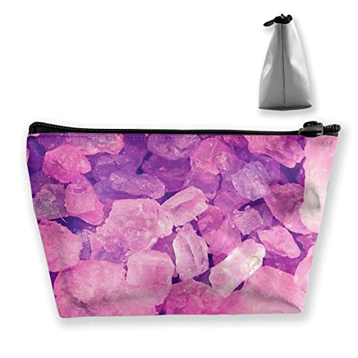 Amazon.com  Trapezoidal Cosmetic Bags Makeup Toiletry Pouch Pink Crystal  Pattern Travel Storage Bag Phone Purse  Clothing 66e0b4c669cf4