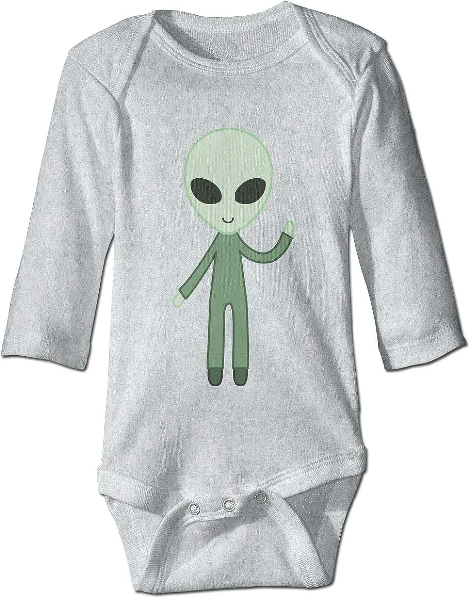 Marsherun Babys Girl Boy Mars Alien Colorful Head Tribal Long-Sleeve Rompers Playsuits