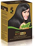 Nisha Quick hair color henna-based herbal protection & NO AMMONIA 100% Grey coverage permanent Root Touch Up & Full hair…