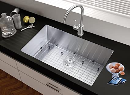 StarStar 32 X 21 Single Bowl Undermount Kitchen Sink 304 Stainless Steel  With Grid