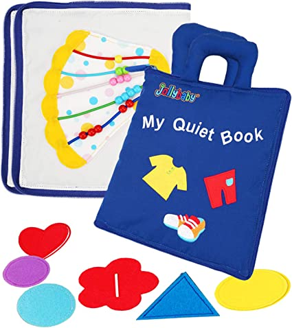 Amazon.com: Jollybaby My Quiet Book - 10 Theme Felt Soft Cloth Book Touch  and Feel, 3D Books Fabric Activity for Babies /Toddlers, Learning to  Sensory Book、Identify Skill Boys and Girls, Busy Book:
