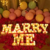 MARRY ME-Brightown Decorative Plastic LED Marquee Letter Light Up Letters Sign Wedding Night Light Decoration Battery…