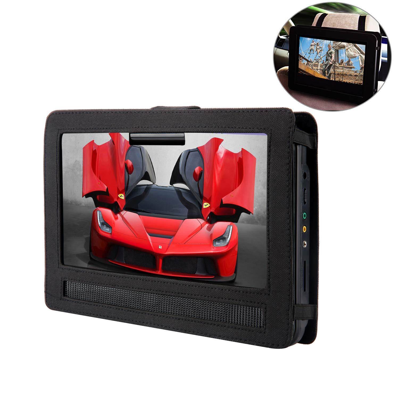 YOOHOO Tablet Car Headrest Mount Holder for Swivel & Flip Style Portable DVD Player (14 inch) by YOOHOO
