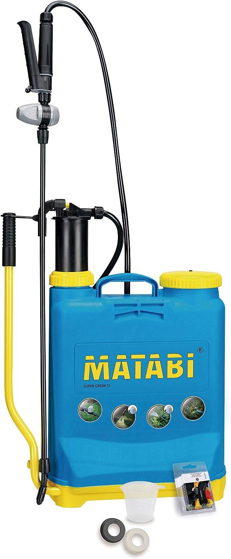 Matabi Super Green - Pulverizador, presión retenida, talla 12, color azul