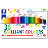 STAEDTLER 157 M36 Ergosoft Triangular Colouring Pencil, Assorted Colours, Tin of 36