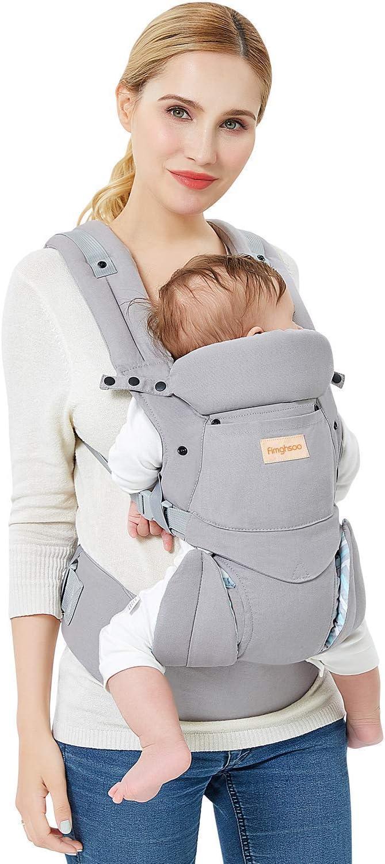 Portabeb/é Ergon/ómico Hipseat Baby Carrier Transpirable Multiposici/ón Ajustable para Beb/és Reci/én Nacidos Peque/ños Ni/ños