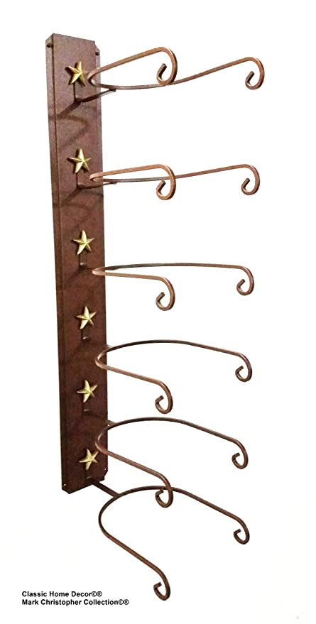 d7e0bc96e5a33 American Made Cowboy Sombrero Holder Star 886 6 Tier perchero para sombreros   Amazon.es  Hogar