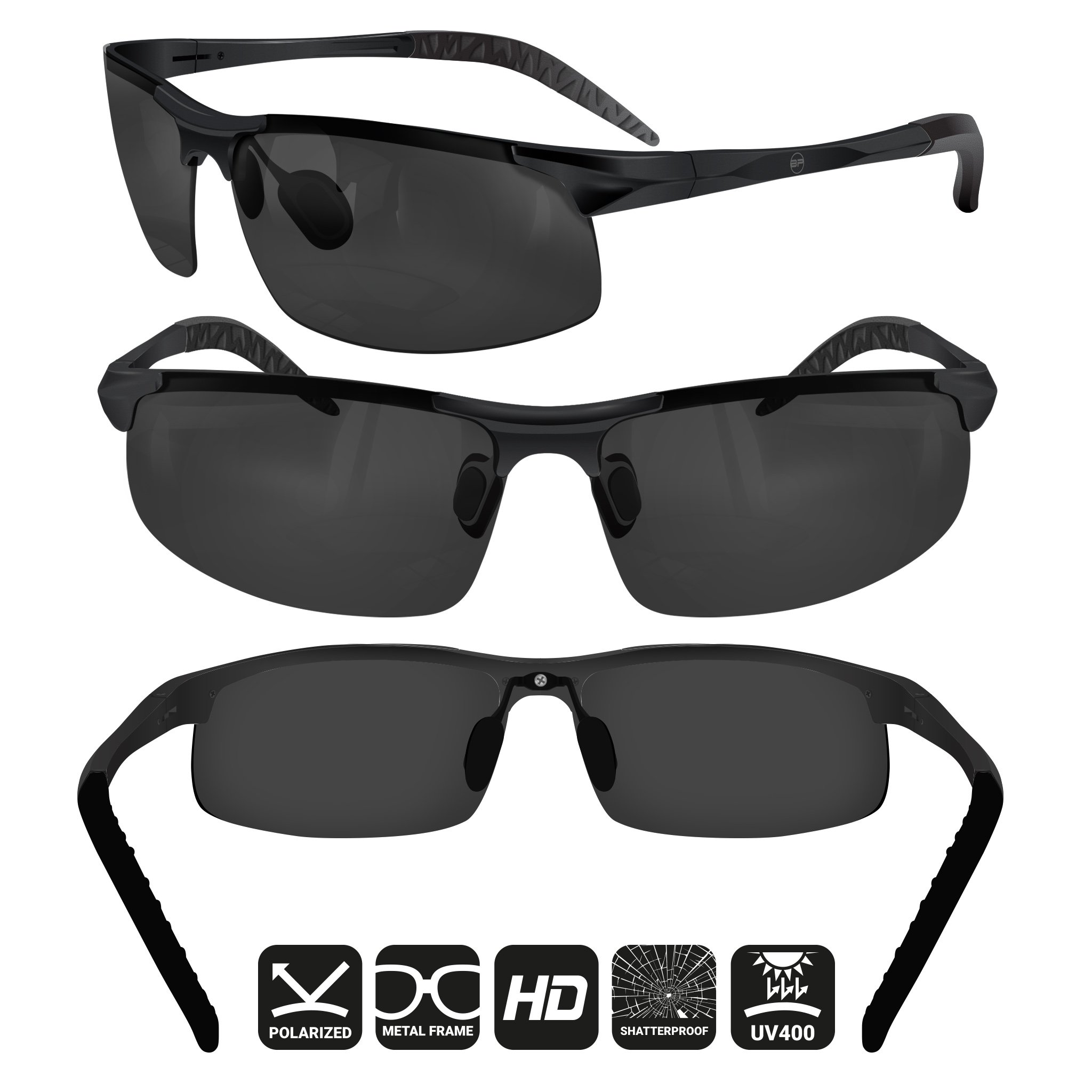 69d9640374e BLUPOND Sports Sunglasses for Men Women - Anti Fog Polarized Shooting  Safety Glasses for Ultimate Eye Protection