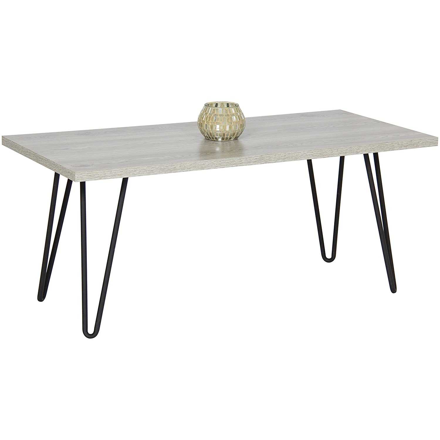 Amazon Best Choice Products Coffee Table W Metal Hairpin