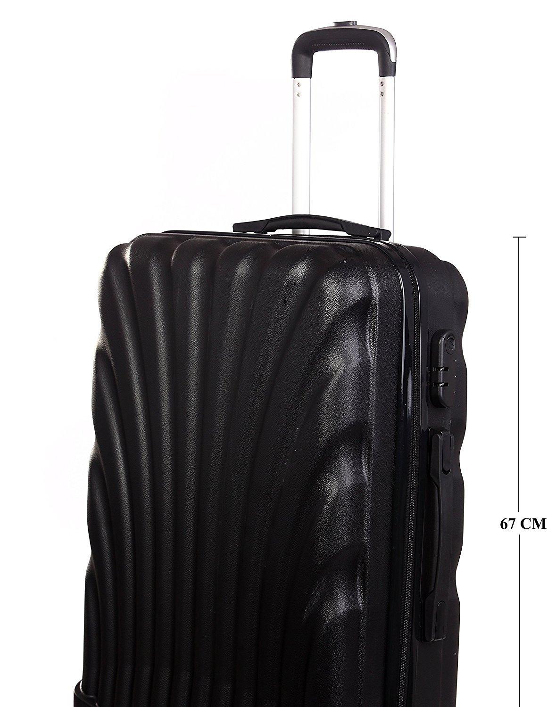 Americano Polypropylene 55 cm Black Hard-sided Check In Trolley  Amazon.in   Bags, Wallets   Luggage 87f3dc620b