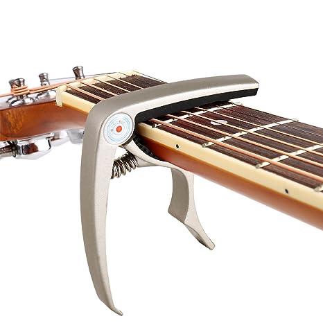 COOCHEER guitarra Capo Guitarras Acústicas y Eléctricas - no arañazos, no Fret Buzz, fácil de transportar - Alto rendimiento, robusta para durar - también ...