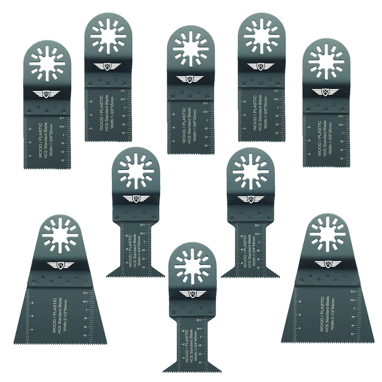 10 x Topstools Unka10 F Mix Lames pour Bosch, Fein Multimaster, Multitalent, Makita, Milwaukee, Einhell, Ergotools, HITACHI, Parkside, Ryobi, Worx, Workzone Multitool Outil multifonction Accessoires