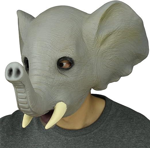 novit/à Deluxe in Lattice di Gomma strisciante Elephant Maschera Decorazioni di Halloween Festa in Costume