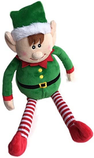 amazoncom checkered fun christmas plush elf christmas holiday decor cute xmas toy for kids and the whole family home kitchen