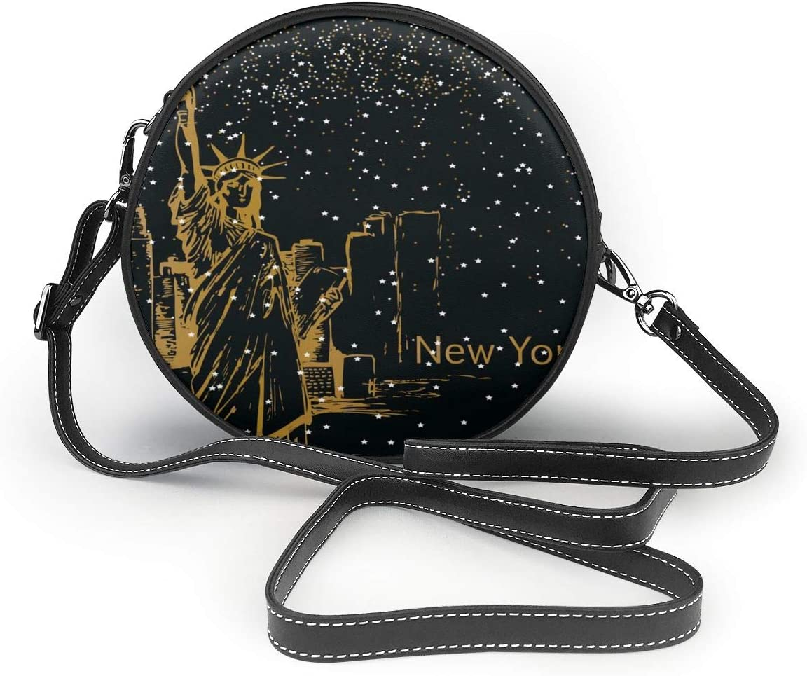 New York with Stars Women Specially High Density Shoulder Bags Thick Backpack Travel School Wallet