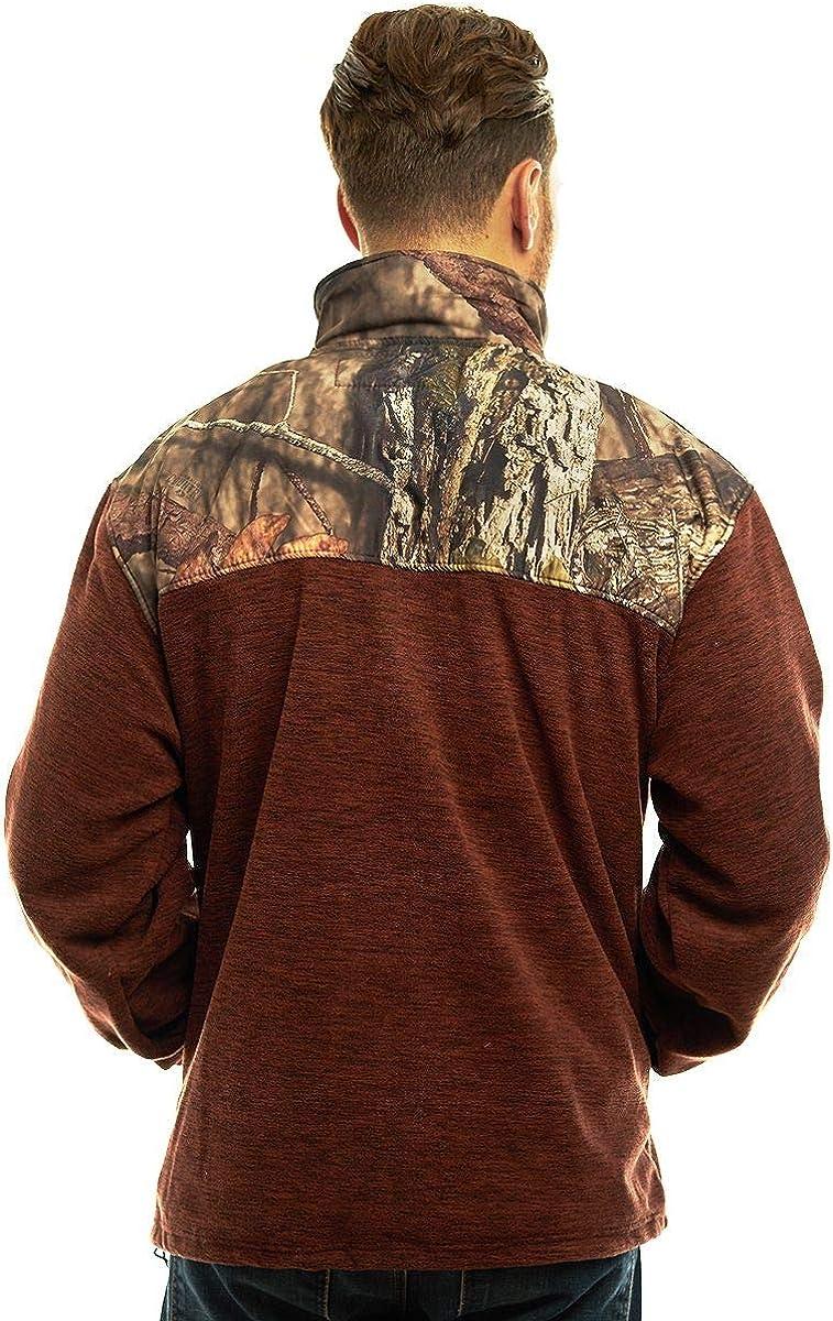 Mossy Oak Camo Patterns TrailCrest Mens C-Max Full Zip Polar Fleece Jacket