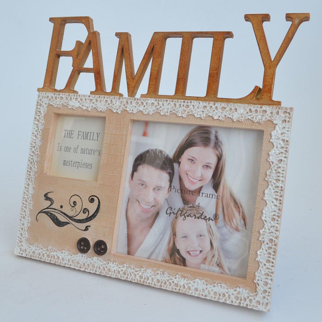 Amazon.de: Giftgarden 10x10 Kunstharz Bilderrahmen mit Family ...